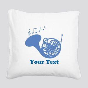 French Horn Customized Square Canvas Pillow