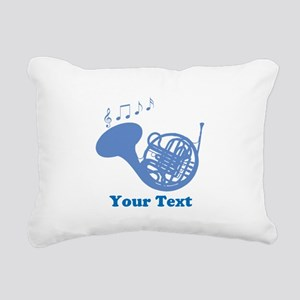 French Horn Customized Rectangular Canvas Pillow