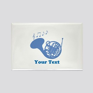 French Horn Customized Rectangle Magnet