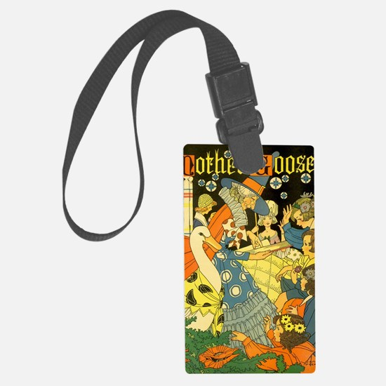 Vintage Mother Goose Luggage Tag