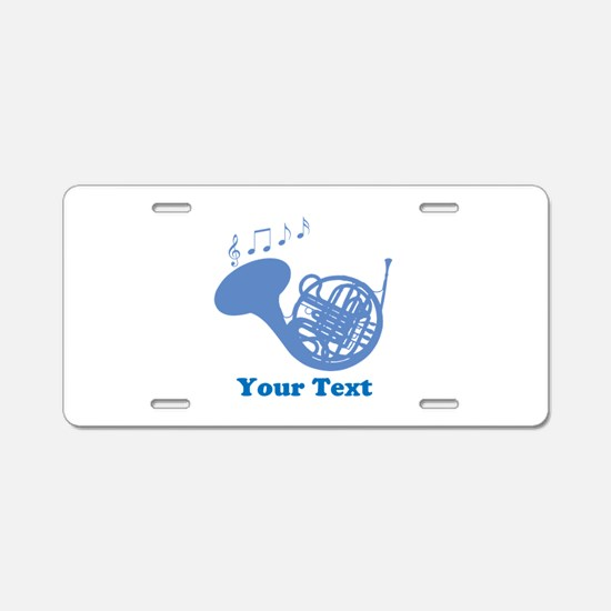 French Horn Customized Aluminum License Plate