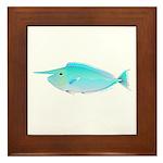 Whitemargin Unicornfish Framed Tile