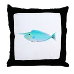 Whitemargin Unicornfish Throw Pillow