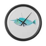 Whitemargin Unicornfish Large Wall Clock