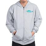 Whitemargin Unicornfish c Zip Hoodie