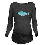 Whitemargin Unicornfish c Long Sleeve Maternity T-