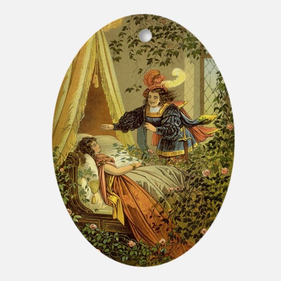 Vintage Sleeping Beauty Oval Ornament