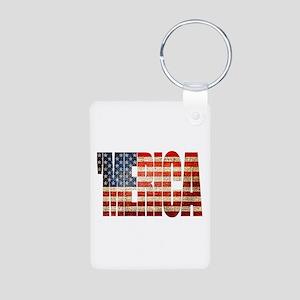 Vintage Grunge MERICA U.S. Flag Keychains