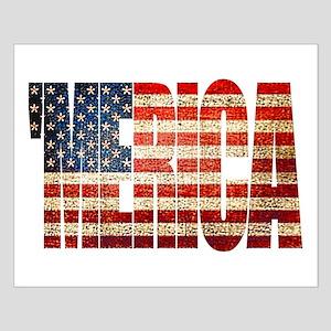 Vintage Grunge MERICA U.S. Flag Posters