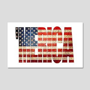 Vintage Grunge MERICA U.S. Flag Wall Decal