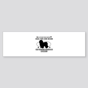 old english sheepdog mommy designs Sticker (Bumper