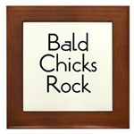 Bald Chicks Rock Framed Tile