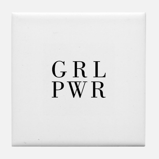 grl pwr Tile Coaster