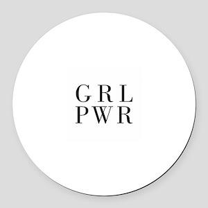 grl pwr Round Car Magnet