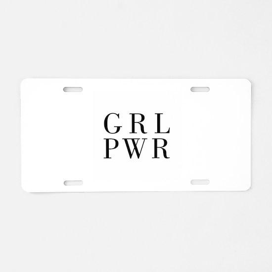 grl pwr Aluminum License Plate