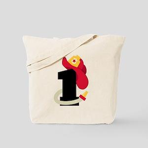 Fireman 1st Birthday Tote Bag