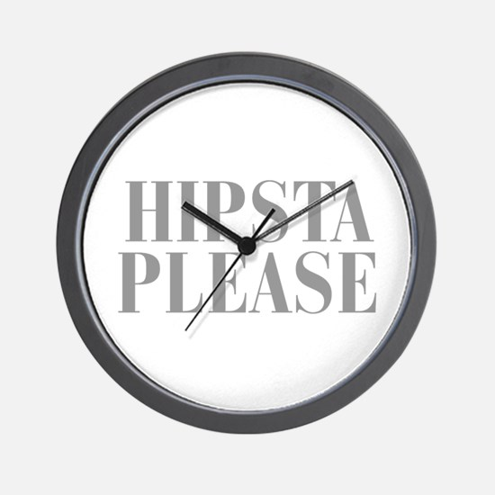 hipsta-please-BOD-GRAY Wall Clock