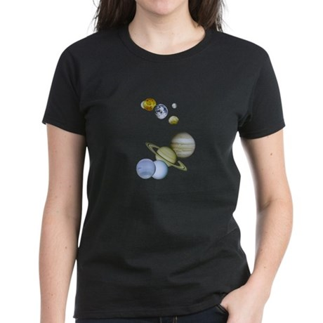 Our Solar System Planets Women's Dark T-Shirt