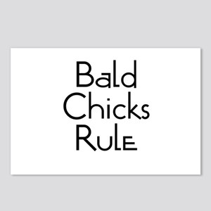 Bald Chicks Rule Postcards (Package of 8)