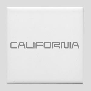 california-saved-gray Tile Coaster