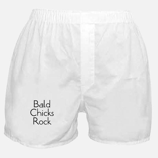 Bald Chicks Rock Boxer Shorts