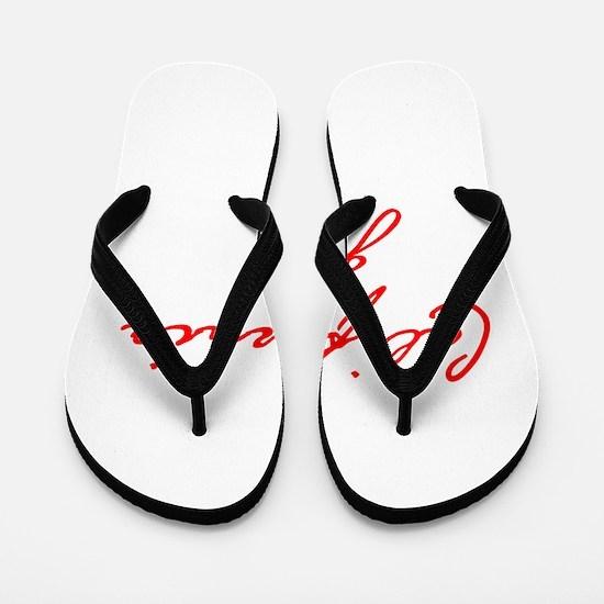 california-girl-jan-red Flip Flops