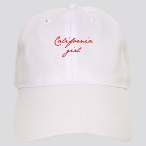 california-girl-jan-red Baseball Cap