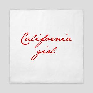 california-girl-jan-red Queen Duvet