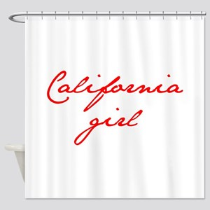 california-girl-jan-red Shower Curtain