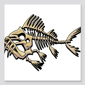 "Skello Fish Square Car Magnet 3"" x 3"""