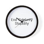 End Celebrity Stupidity Wall Clock