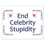 End Celebrity Stupidity Small Poster