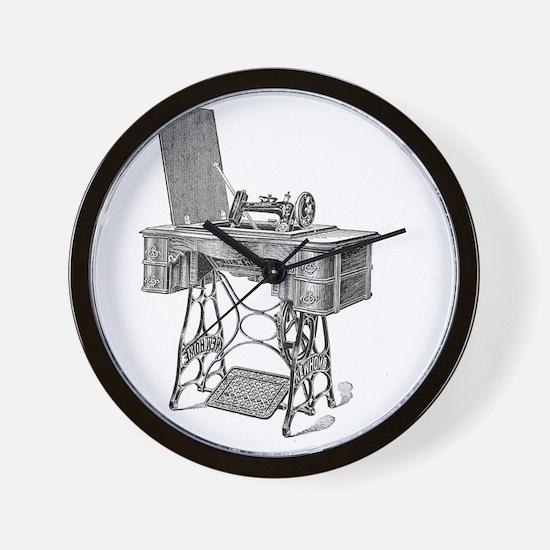 New Home Treadle Sewing Machine Wall Clock