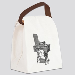 New Home Treadle Sewing Machine Canvas Lunch Bag