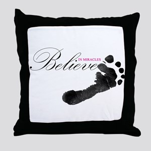 Believe in Miracles Throw Pillow
