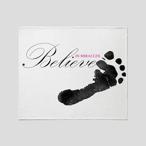 Believe in Miracles Throw Blanket