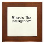 Where's the Intelligence Framed Tile