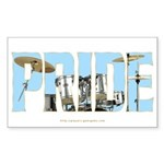 Drums Pride Rectangle Sticker