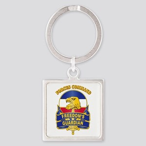 DUI - FORSCOM with Text Square Keychain