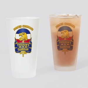 DUI - FORSCOM with Text Drinking Glass