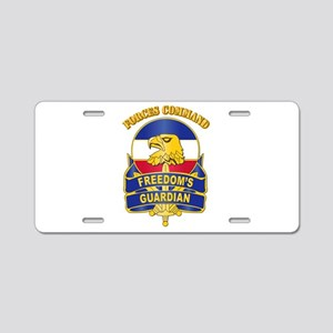 DUI - FORSCOM with Text Aluminum License Plate