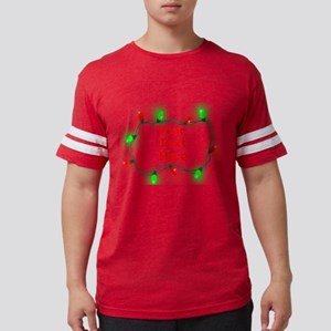 Custom Christmas Lights Mens Football Shirt