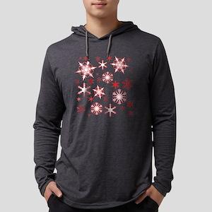 Rosy Snowflakes Mens Hooded Shirt