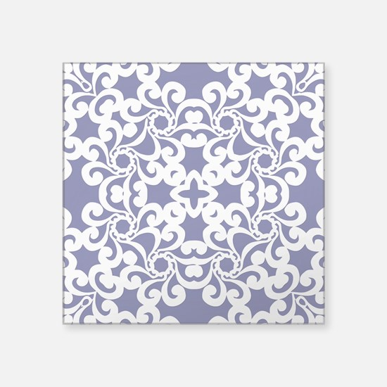"Blue Iris & White Lace Tile Square Sticker 3"" x 3"""
