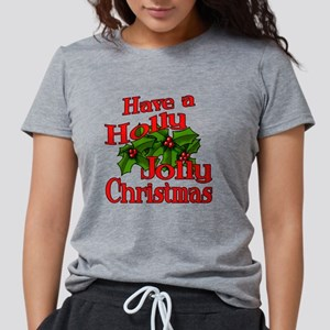 Holly Jolly Xmas Womens Tri-blend T-Shirt