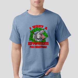 Hippopotamus for Christmas Mens Comfort Colors Shi