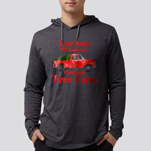 Custom Tree Farm Mens Hooded Shirt