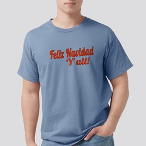 Feliz Navidad Yall Mens Comfort Colors Shirt