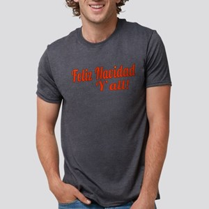 Feliz Navidad Yall Mens Tri-blend T-Shirt
