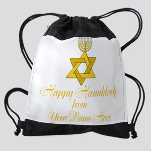Custom Hanukkah Drawstring Bag